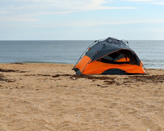 Camping in the wind
